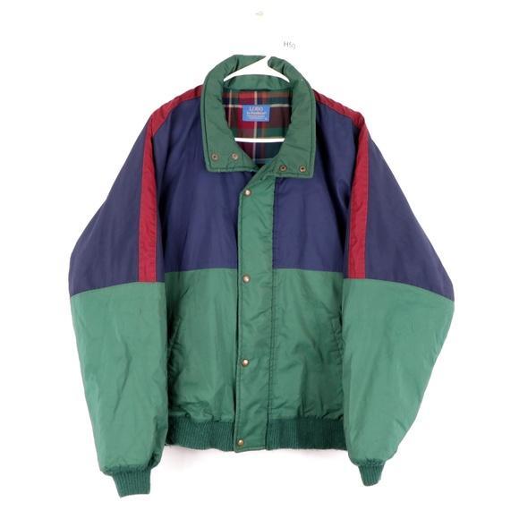 Vintage 80s Pendleton Lobo Flannel Lined Jacket